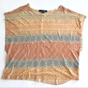 Tribal print, earth tone, light t-shirt